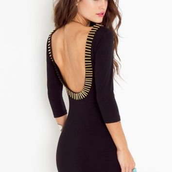Gold Rush Dress - Black in Clothes at Nasty Gal