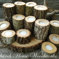 Tree Branch Candle Holders, Rustic Wedding Candle Holders, Rustic Wedding Centerpieces, Wood Candle Centerpieces