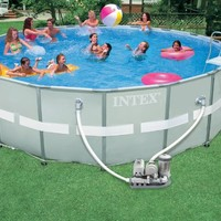 Intex Ultra Frame 18-Foot-by-52-Inch Round Pool Set (Discontinued by Manufacturer)