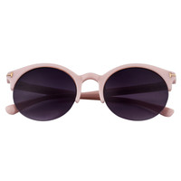 Pink Half Frame Cat Eye Sunglasses