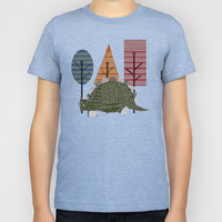 happy trees - stegosaaurus Kids T-Shirt by bri.buckley