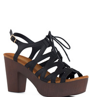 Rashida Wedge Heels - Black