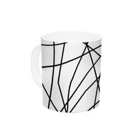 "Trebam ""Paucina v3"" Black White Ceramic Coffee Mug"
