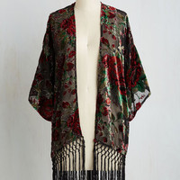 Boho Long I'm Awe Yours Jacket in Noir