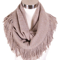 Luxe Fringe Infinity Scarf in Mauve