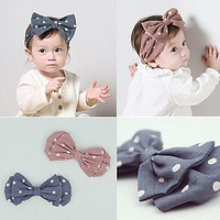 Cute born Toddler Baby Girls Bow-knot Elastic Headband Accessories Hair Band