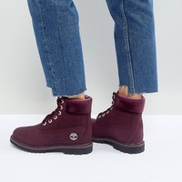 Timberland 6 Inch Premium Burgandy Lace Up Boots at asos.com