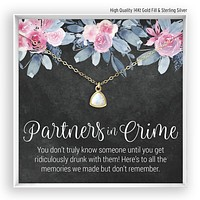 Partners in Crime  Opal Necklace