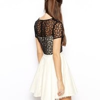 Chi Chi London Prom Dress with Lace Bodice