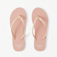 Womens Glitter Rubber Flip Flops | Womens Shoes | Abercrombie.com