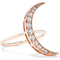 Andrea Fohrman - Luna 18-karat rose gold diamond ring