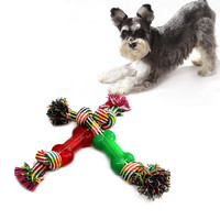 2016 1pcs pet dog toys molar tooth cleaning resistance to bite pet toys  training  playing and chewing color sent at random