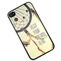 S9Y New Keep Your Dreams Alive Quote Plastic Hard Case Cover Back Skin For Apple iPhone 4 4G 4S (leo9)
