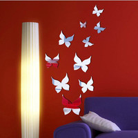 Mirror Acrylic Living Room Bedroom Sofa Decoration Butterfly Wall Sticker [6283171334]