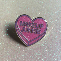 Glitter Makeup Junkie Enamel Pin (Limited Edition)