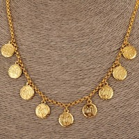 Bangrui NEW Arabic Allah Coin Necklace for Women Gold Color Arab/Africa Islamic Like Jewelry Make Money Gift Lucky