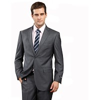 Latest Coat Pant Designs Mens Formal Wear Best Wedding Suits For Men Clothing Dark Gray Tuxedos Terno Slim Prom Suits
