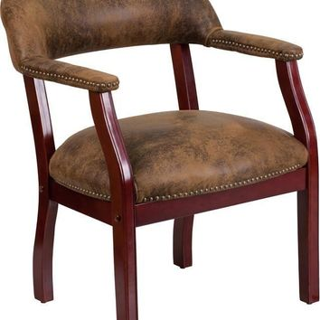 Bomber Jacket Brown Luxurious Conference Chair