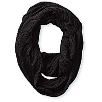 Soybu Womens Trish Cable Knit Ribbed Trim Infinity Scarf