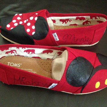 Custom Painted Disney Toms and Other Canvas Shoes