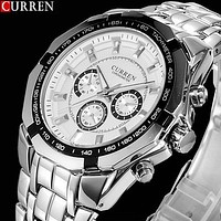 New CURREN Watches Men Top Luxury Brand Hot Design Military Sports Wrist watches Men Digital Quartz Men Full Steel Watch
