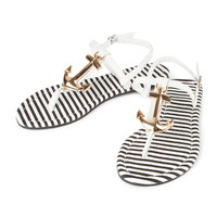 Tory Anchor T Strap Sandals