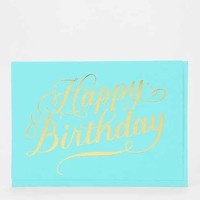 Sugar Paper Foil Bottle Happy Birthday Card- Assorted One