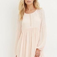Contemporary Pleated Chiffon Dress