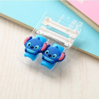 Precious Blue animals with Pink ears Cable Protector