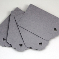 50x Charcoal Grey kraft paper tags, grey gift tags, grey wedding tags, grey escort tags, gray paper tags, gray hang tags, grey wedding cards