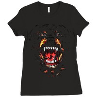 givenchy dog Ladies Fitted T-Shirt