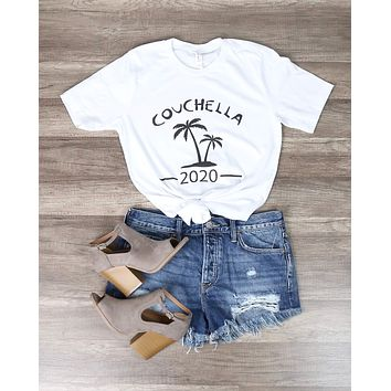 Distracted - Couchella Funny Graphic Tee in White