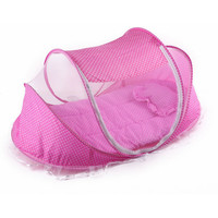 4pc/set 0-2T Baby Bed Cunas Baby Crib Summer Portable Cots Foldable Crib Net anti mosquito Newborn Travel Bed Baby Cradle Pink