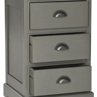 Griffin 3 Drawer Side Table Grey