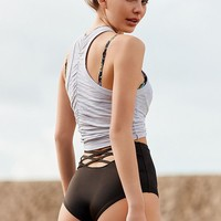 Out From Under Strappy Back High-Waisted Bikini Bottom   Urban Outfitters