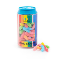 Dylan's Candy Bar Soda Can filled with Mini Neon Sour Worms   Dylan's Candy Bar