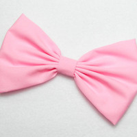 PINK Hair Bow Clip COTTON CANDY Pink Bow Clip Pink Clip Bows for women Teen Bows Pink Fabric Bow hair bow sweet lolita bows 5 by 3 inches