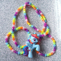 Neon Stars and Rainbow Dash Stretch Necklace