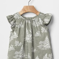 Gap Owl Flutter Top