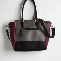 Menswear Inspired Triple the Charm Bag in Charcoal by ModCloth