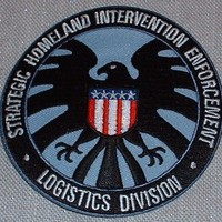 Marvel's IRON MAN Homeland Enforcement Shield PATCH (Blue/Black)