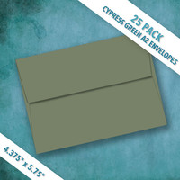 A2 Size CYPRESS GREEN Envelopes   Pack of 25