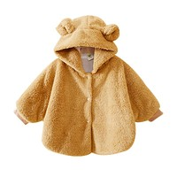 Fashion Warm Baby Coats Jackets Boys Girl's Smocks Outwear Soft Fleece Cloak Jumpers Mantle Children's Clothing Poncho Cape