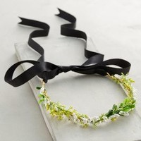 Woodland Flower Crown by Anthropologie in Green Motif Size: One Size Accessories