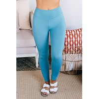 Move To The Beat Leggings (Dusty Teal)