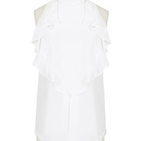 Givenchy Tops :: Givenchy white ruffled silk crepe top | Montaigne Market