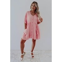 REORDER: Along For The Ride Dress: Peachy Pink