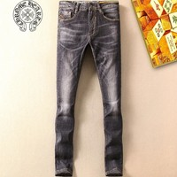 Chrome Hearts Fashion Casual Pants Trousers Jeans