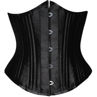 Shaper Body Sexy Waist Steel Boned Palace Slim Black Corset [4965374788]