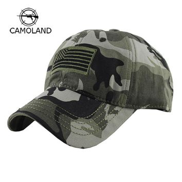 Trendy Winter Jacket Cotton Baseball Cap for Men Women Summer Adjustable Snapback Army Camouflage Tactical Caps Sun Hat Sports Outdoor American Flag AT_92_12